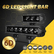 DERI 6D Lens 30W 60W 8 inch Single Row spot Led work Light 14 Bar For Off road 4WD Truck ATV 12V 24V car lights