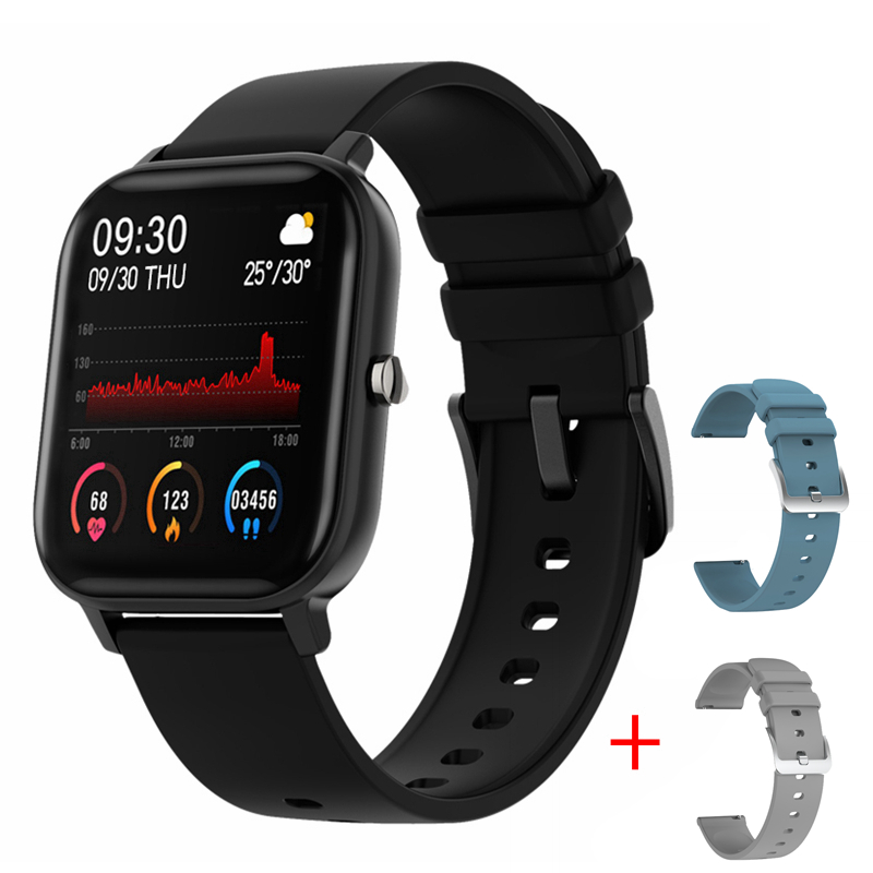 LYKRY 2020 Smart Watch P8 Men Women 1.4inch Full Touch Screen Fitness Tracker Heart Rate Monitor IP67 Waterproof GTS Sports Band