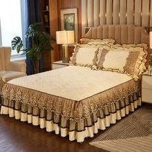Кружевная бархатная кроватная юбка Королевский полный чехол