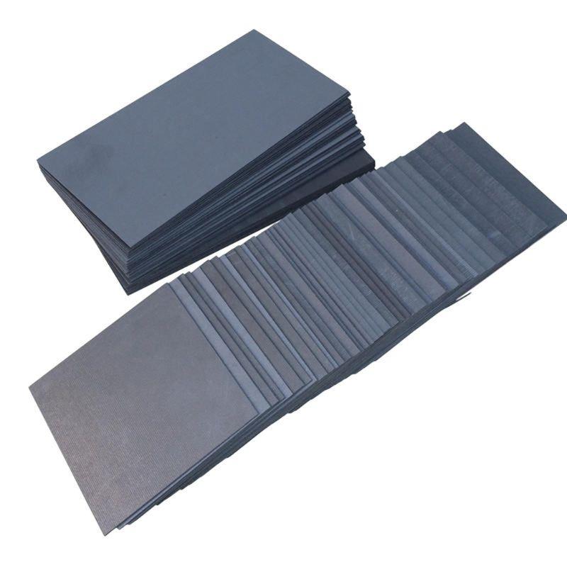 2pcs High Pure Carbon Graphite Sheet 100×100×2mm Electrode Plate Anode Panel Mould DIY Use CORC