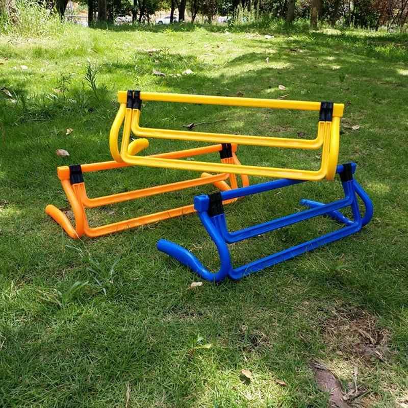 Mini Rintangan Dapat Dilepas Sepak Bola Barrier Bingkai Sepak Bola Pelatihan Barrier untuk Melompat Berjalan Sensitif Sepak Bola Kecepatan