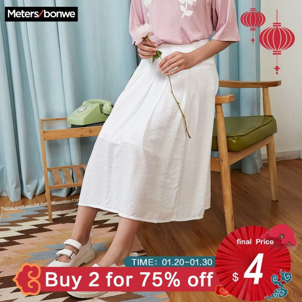Metersbonwe Summer Women Vintage Mid-length Skirt New Casual Korean Version Skirt Trend Harajuku Skirt For Office Lady