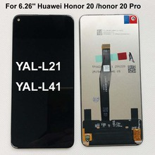 Original AAAA For 6.26 Huawei Honor 20 honor 20 Pro YAL L21 YAL L41 YAL AL10 LCD Display Touch Screen Digitizer Assembly parts