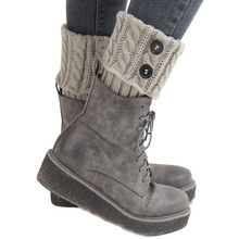 Women Winter Knitting Leg Warmers Boot Cover Keep Warm Socks Solid Color Socks Boot Warmers Boot Toppers
