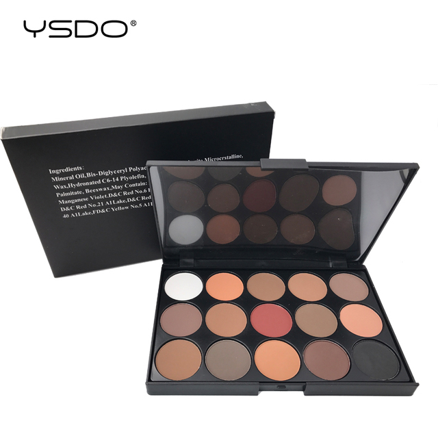 15 Colors Eyeshadow Palette Matte Eye shadow Long lasting Easy to Apply Professional Eyeshadow Eye primer Beauty Makeup Tools 01 5