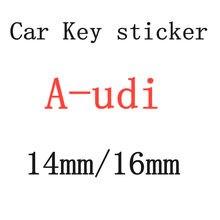 20 шт 16 мм 14 мм Автомобильная Эмблема Ключ символ Стикеры логотип для a-udi
