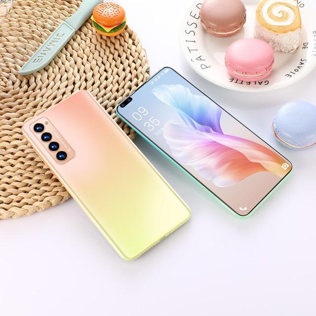 "X2 PRO New Smartphone Global Unlocked Android 10.0 Smart Phone 7.3"" Full HD 512GB 5000mAh Mobile Phone Fingerprint 5G Phone 5"