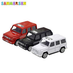 1: 43 Mercedes Benz AMG G63 Коллекционная модель автомобиля из сплава детские игрушки оттяните назад автомобиль Diecasts транспортные средства играть