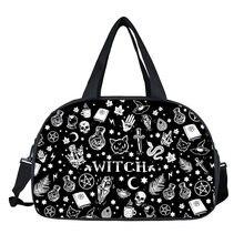 Дорожные сумки fantasy witch / black cat fairy с принтом многофункциональная