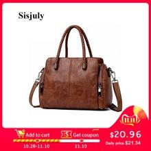 Sisjuly 100% Geuine Leather Hanabag Women Pigskin Large Capacity Crossbody Bag W