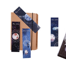 6pack/lot Dreamy Playing in Space Bookmark Paper  planet Animals Promotional Gift Film for Kids