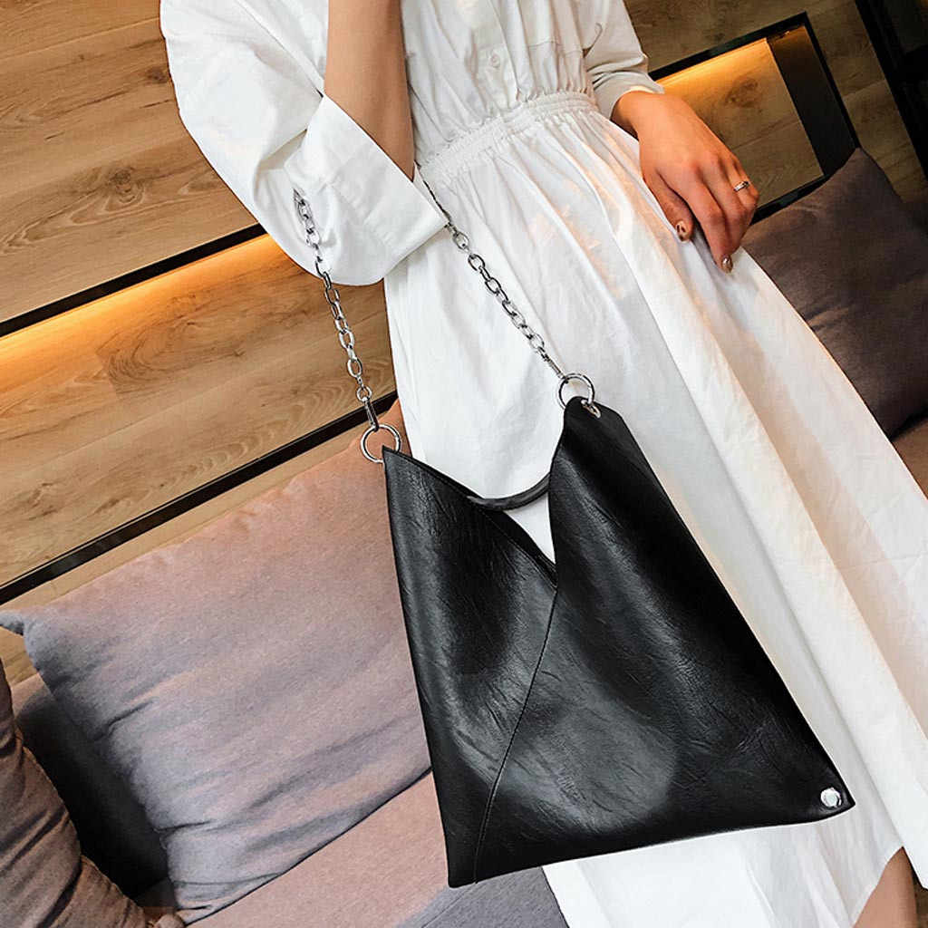 Hitam Bolsos Mujer De Marca Famosa 2020 Wanita Sederhana Tas Retro Rantai Messenger Bag Fashion Tas Bahu # YL5