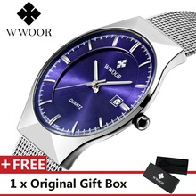 WWOOR Men Watch Top Luxury Brand Sport Watches