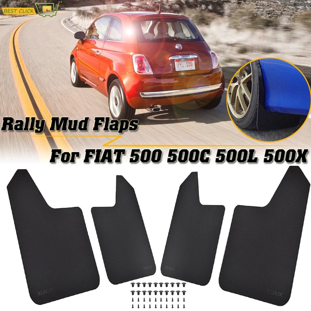 Par trasera de Calidad de protección contra daños protector de piedra Mud flaps para Fiat