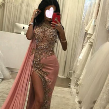 Gorgeous One Shoulder robe de soiree Bead Evening Long vestido de festa prom gown платье женское 2020 Bespoke Occasion Dresses женское платье one thousand chak qz15xlyq553 2015