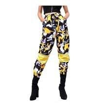 Брюки женские камуфляжные большого размера свободные штаны Джоггеры