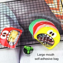 100pcs / bag Sticker Pattern Candy Bag 10x10cm Candy Biscuit