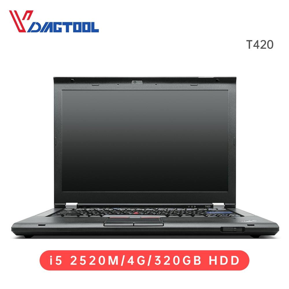 Auto diagnostyczny Laptop I5/4G 320GB HDD dla Vxdiag VCX SE,C6,Icom,SVCI klucz programujący narzędzia