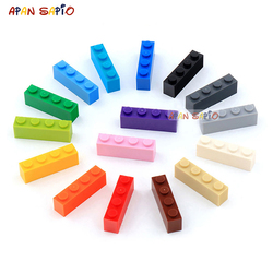 200pcs 1x4 Dots DIY Building Blocks Thick Figures Bricks Educational Creative Toys for Children Size Compatible With 3010