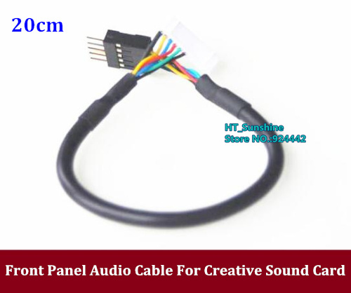 new Front Panel Audio Adapter Cable For Creative Sound Card SB0220 SB0240 SB0670 SB0350 SB0460 Sb470 Sb0550 Sb0570 Sb0660 Sb0770