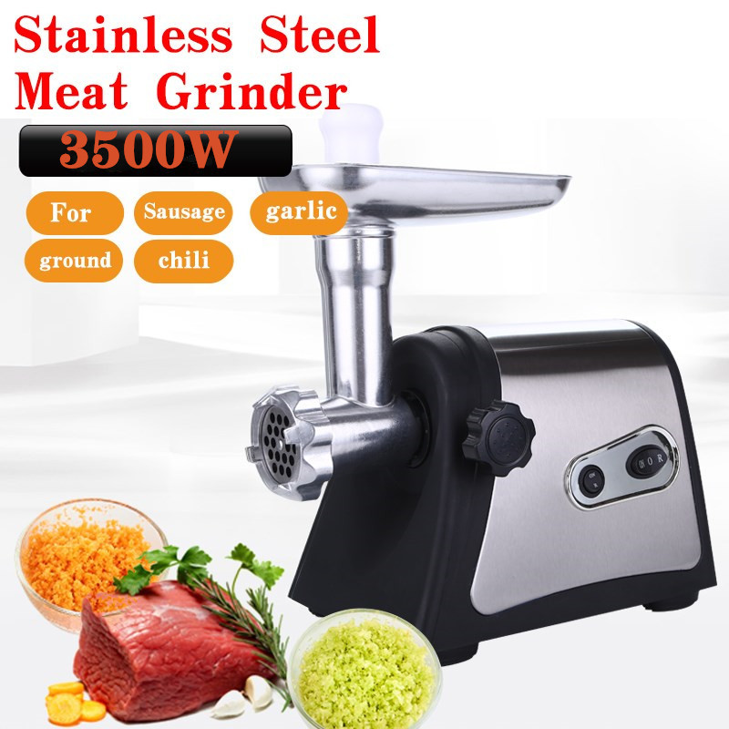 2500W Powerful Stainless Steel Electric Meat Grinders Home Sausage Stuffer Meat Mincer Heavy Duty Household Mincer