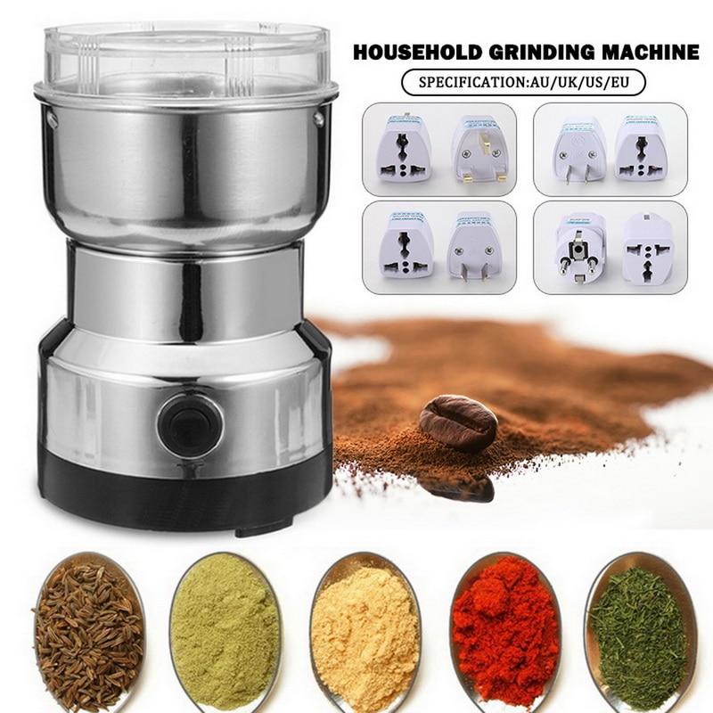 220V 150W Coffee Grinder Electric Mini Bean Nut Grinder Coffee Beans Multifunctional Home Coffe Machine Kitchen EU Plug #25