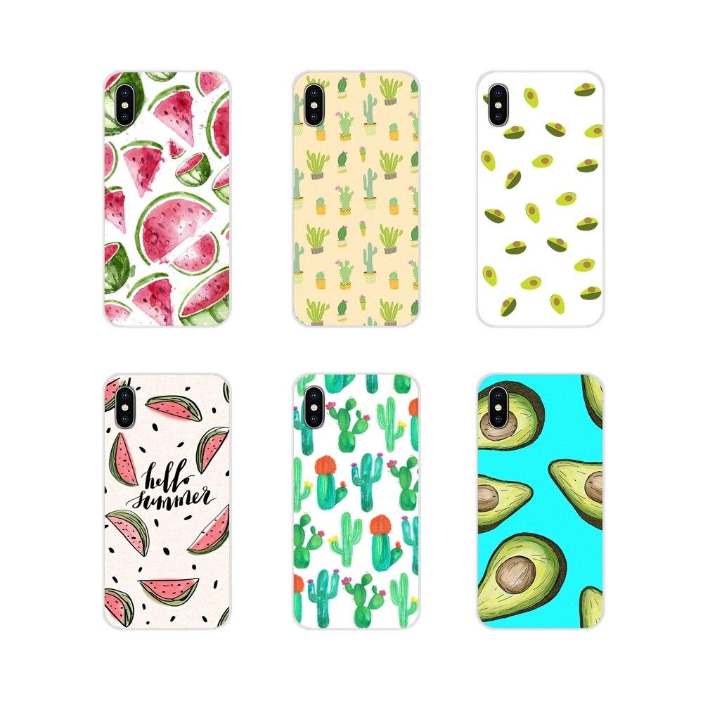 Summer Avocado Watermelon Cactus For Motorola Moto X4 E4 E5 G5 G5S G6 Z Z2 Z3 G G2 G3 C Play Plus Accessories Phone Cases Covers