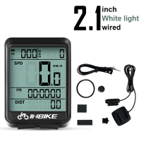 White Light-Wired-INBIKE Waterproof Bicycle LED Digital Rate Wireless/Wired MTB Bike Odometer Stopwatch Speedometer