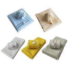 Blanket Shooting-Accessories Photography-Props Newborn-Baby Hat Wraps Elastic 2pcs-Set