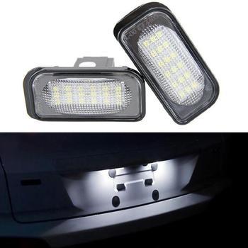 2Pcs 18SMD LED License Plate Lights for Benz C-Class W203 Sedan SL-Class R230 CLK-Class W209 C209 A209 Free Shipping for mercedes benz clk class w209 a209 c209 2002 2009 hd ccd car rear view reverse camera sets rca