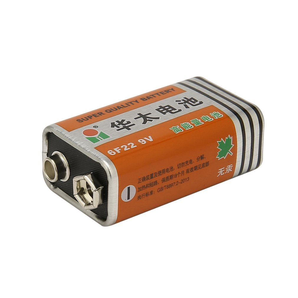 1 Pc HUATAI 6F22 9V High-capacity Carbon-zinc Zinc-manganese Dry Cell Battery Replacement Mercury-free Battery For Microphone