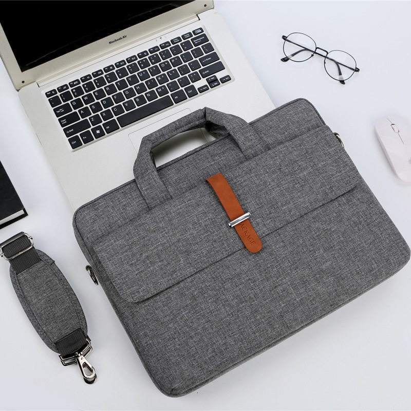 Men Women Nylon Waterproof Shoulder Handbags Multifunction Laptop Briefcase Bag