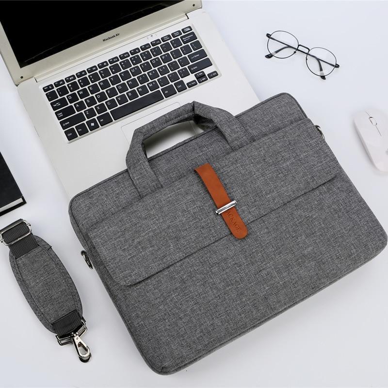 Men Women Nylon Waterproof Shoulder Handbags Multifunction Laptop Briefcase Bag