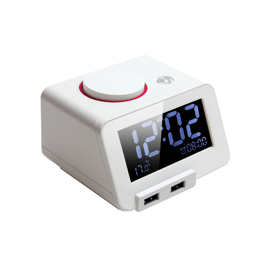 Alarm Clock Usb Charger Led Silence Temperature Back Light Digital Weather Station Thermometer Wifi Student Bestselling 50nz056