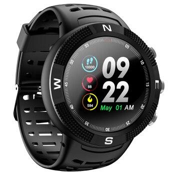Binssierra 2019 nuevo reloj inteligente IP68 a prueba de agua GPS F18 pantalla a Color gran batería Monitor de ritmo de sonido hombres mujeres reloj inteligente deportivo + caja