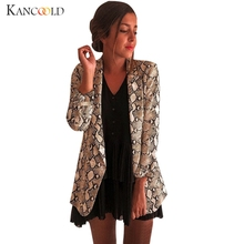 KANCOOLD Women's Casual Large Size Snake Print Suit Women's Blazer Jacket Suit A