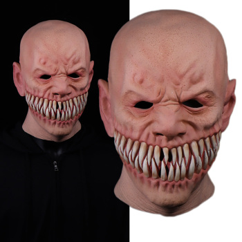 Horror Stalker Clown Mask Cosplay Creepy Monster Big Mouth Teeth Chompers Latex Masks Halloween Party Scary Costume Props new halloween devil clown vampire mask yellow goblins mask halloween horror mask creepy costume party cosplay props