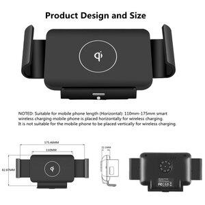 Image 4 - Bonola הידוק אוטומטי אלחוטי מטען לרכב הר עבור iPhone 11 XR 8 בתוספת רכב אלחוטי מטען עבור סמסונג S20 בתוספת הערה 20