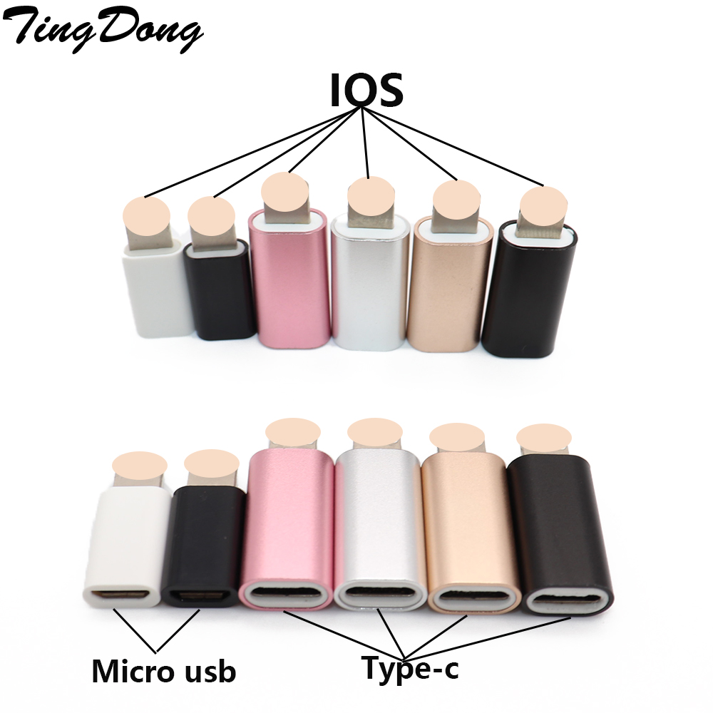 8-Pin Converter To Micro USB  Adapter For Android IPhone 5/5s 6/6s Plus IPad 4 Air 2 Charger Cable Connector To IOS 8pin Port