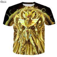 CLOOCL Anime el Caballeros del zodiaco de Saint Seiya camisa 3D impresión T camisa Unisex Cosplay Hipster Harajuku camiseta camisetas de Hip Hop