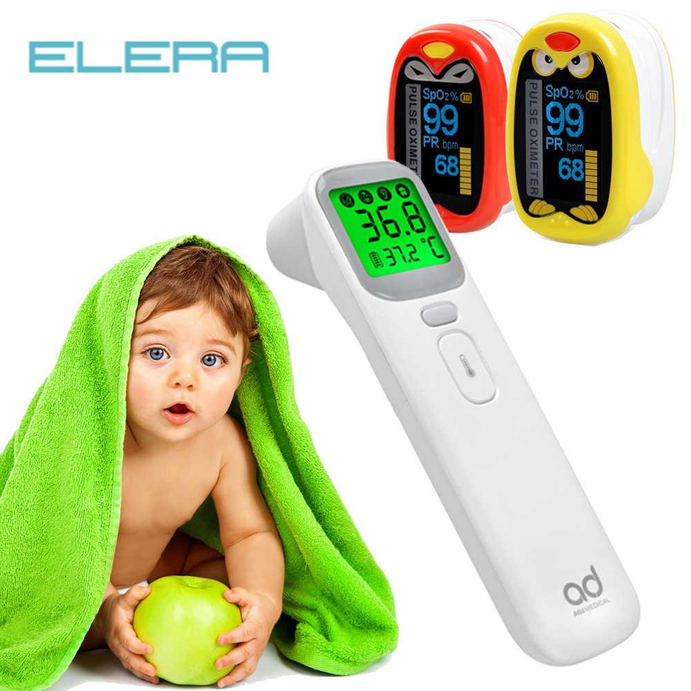 ELERA pediátrica oxímetro de pulso para dedo Neonatal de oxígeno en la sangre de los niños USB recargable de saturación infantil Oximetro pediatrico