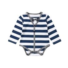 Baby Bodysuit Newborn Baby Boys Outfits One Piece Button Stripe Baby Clothes Bodysuit Playsuit Set stars and stripe pattern bodysuit
