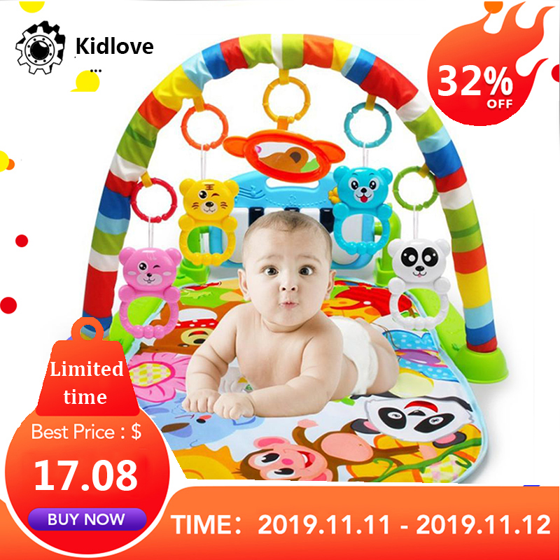 Kidlove Baby Activity Multifunction Piano Fitness Rack With Music Rattle Infant Activity Mat Children For Newborn