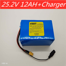 6s5p 25.2v 12ah lithium battery pack 25.2V 12000mAh Suitable for bicycle electric scooter wheelchair battery pack with BMS