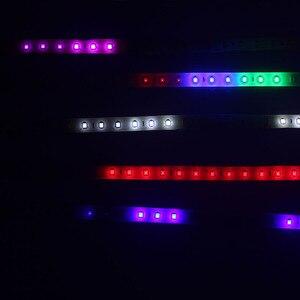Image 2 - 1X Auto Led Strip 30Cm 60Cm 18 Modes Flexibele Kleurrijke Decoratieve Vloeiende Lamp Motor Drl Rgb Angel Eyes dagrijverlichting 12V
