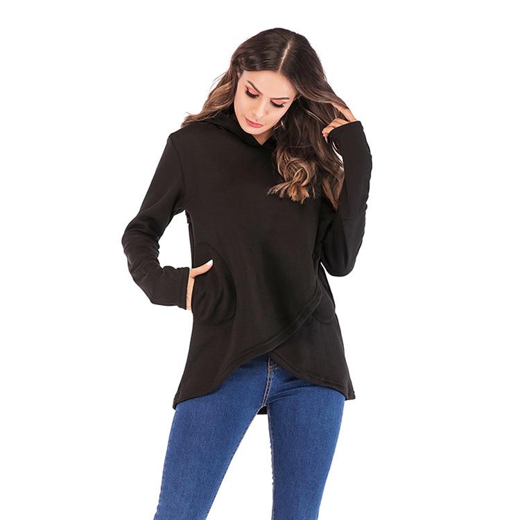 Women Hoodies Sweatshirts Autumn Winter Long Sleeve Pocket Pullover Hoodie 15