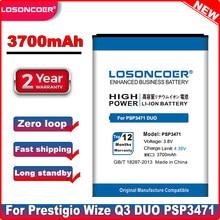Batterie LOSONCOER 3700mAh PSP3471 DUO pour batterie Prestigio Wize Q3 DUO PSP3471 PSP3471DUO + numéro de suivi