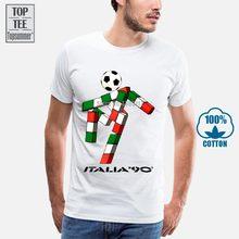 Italia 90 futebolista mascote itália tumblr futebol masculino retro 2 t camisa