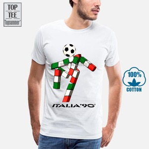 Italia 90 Footballer Mascot Italy Tumblr Soccer Mens Retro 2 T Shirt
