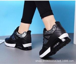Image 3 - COWCOM Primavera delle Donne Elevati Scarpe Cuscino Daria Runningg Scarpe Traspirante paillettes spessa suola di sport scarpe casual